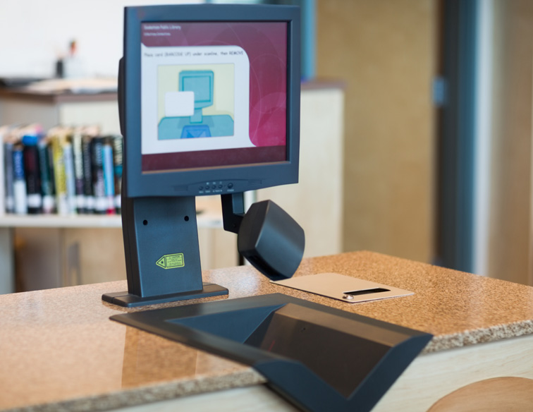 Touchscreen in library